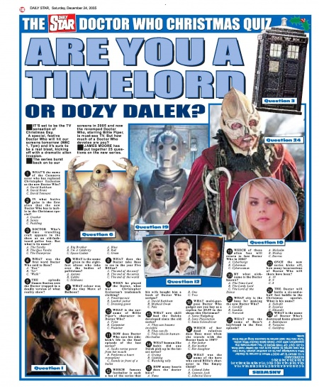 Are You A Timelord Or Dozy Dalek